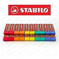 Stabilo Legend Gomme plastique-Couleurs assorties-Lot de 20