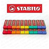STABILO Legend Kunststoff Radierer, verschiedene Farben–Box von 20