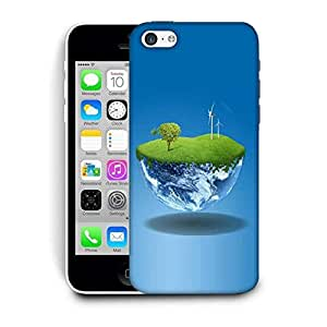Snoogg Half Earth Printed Protective Phone Back Case Cover For Apple Iphone 5C