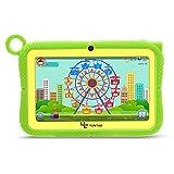 Yuntab Q88R Tablet para niños - Tablet Infantil de 7 Pulgadas Incluye Control Padres iWawa Software niños Pre-instalado ( Android 4.4 , Quad-Core, WiFi, Bluetooth, HD 1024x600, 8GB ROM, Tarjeta TF 32 GB, Doble Cámara, Google Play) (Color verde)