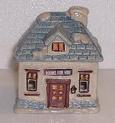 Dickens Village Ceramic Candle Holder 4.5