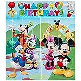 Amscan 679612 - Cartel decorativo para cumpleaños con diseño de Mickey Mouse
