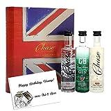 Book of Spirits Geschenk-Set Gin & Vodka Gin Buch England Dry Antikes Buch mit 3 Mini-Flaschen (5cl) Chase Elegant Dry Gin, Marmeladen Vodka & Smoked Vodka Das exklusive Probier-paket inkl. Geschenkkarte perfekt zu Geburtstag Vatertag