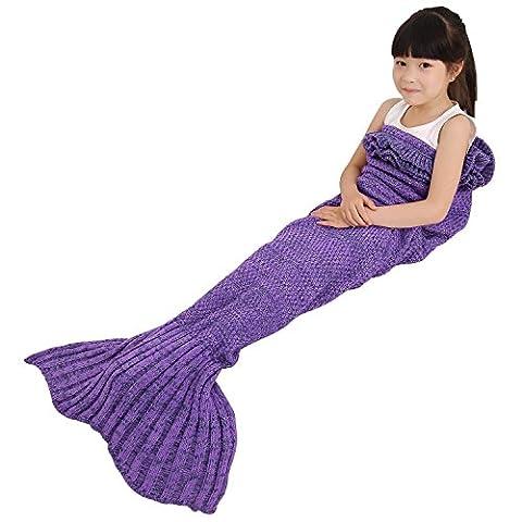 Mermaid Tail Blanket - Premium Hand Knitted Mermaid Blanket with,