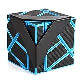 DSstyles Emorefun Qin Speed Soomth Karbonfaser-Würfel, 3 x 3, Blau/Schwarz