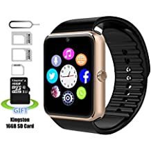Reloj inteligente, Pushman 1impermeable inteligente Reloj Teléfono para iphone 5S/6/6S y Android 4,2o superior SmartPhones, Pushman