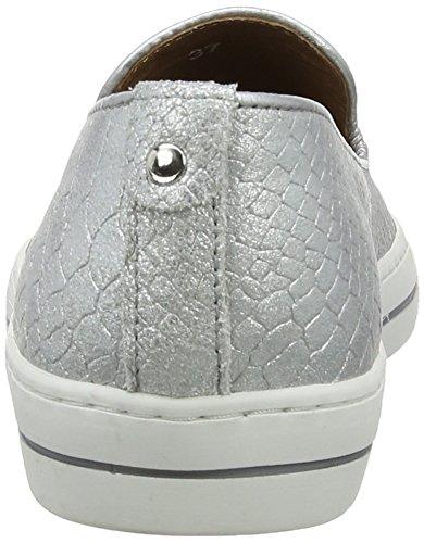 Moda In Pelle Betha, Chaussons Sneaker Femme Argent (Silver)