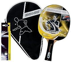 Donic-Schildkröt Tischtennis Geschenkset Waldner 500, 1 Schläger, 3 Bälle inkl. Schlägerhülle, im Blister, 788700