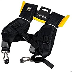 Double Sling Strap for Two DSLR Camera by House of Quirk Strap Carries 2 Cameras Or 2 Lenses Vertically for Nikon Canon Sony Pantex for DSLR Camera
