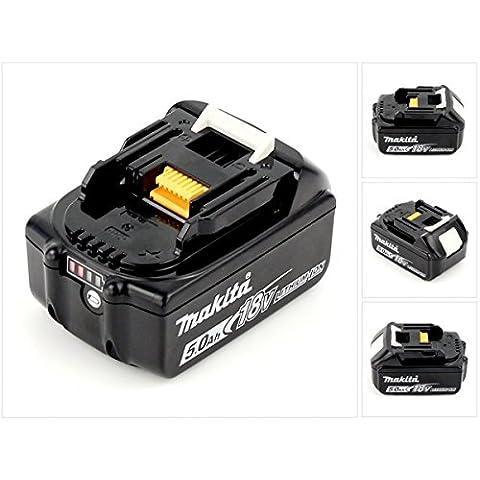 Makita BL 1850 B 18 V - 5 Ah/5000 mAh Li-batteria agli ioni di litio con luce LED - display