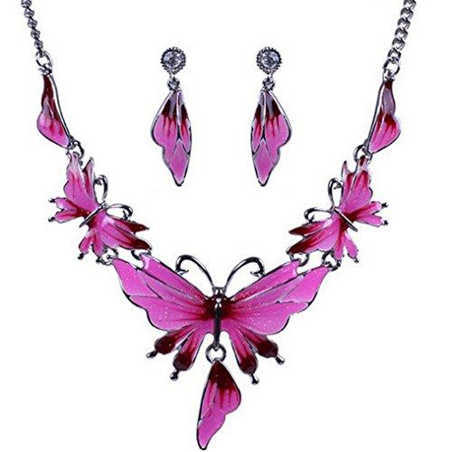 HFJ&YIE&H Frauen Europas Legierung Schmetterling Schmuck-Set (darunter Halsketten Ohrringe) , one size