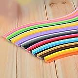 YURROAD 900Streifen Papier Quilling Streifen Kits (Breite 3mm/5/7mm/10mm, Länge 39cm) 7 mm Black/Blue/Brown/Green/Orange/Purple/Red/Yellow