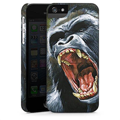 Apple iPhone X Silikon Hülle Case Schutzhülle Gorilla Affe dschungel Premium Case StandUp