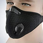 Carrfan- Sport Dust Mask Cycling Running Outdoor Face Mask Training Mask Dustproof Carbon Filtration Workout R