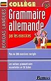 bordas langues grammaire allemande par les exercices coll?ge