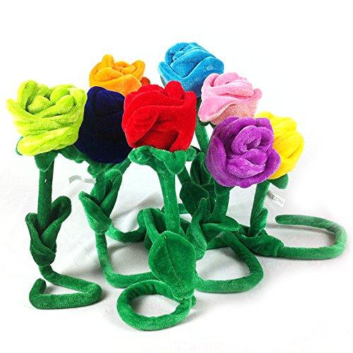 5er Pack biegbar Rose Blume Plüsch Spielzeug Valentines Wedding Party Home Dekoration Vorhang Schnalle