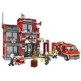 MAJOZ Jeu de Construction - La Caserne des Pompiers - City Action - Compatible avec...