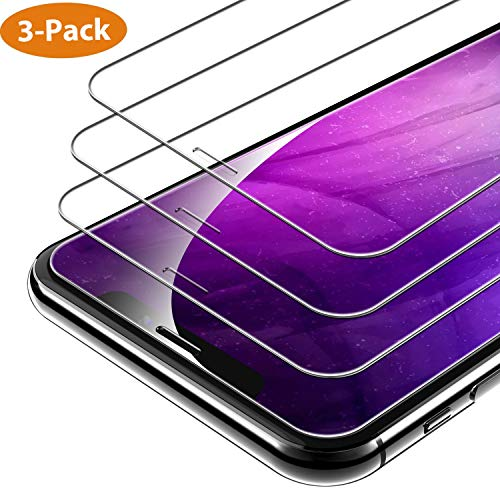 Syncwire Pellicola Protettiva Compatibile con iPhone X iPhone XS, [3 Pezzi] HD Pellicola in Vetro temperato 9H durezza 2.5D Pellicola Protettiva Ultra Trasparente in Vetro temperato per iPhone X/10
