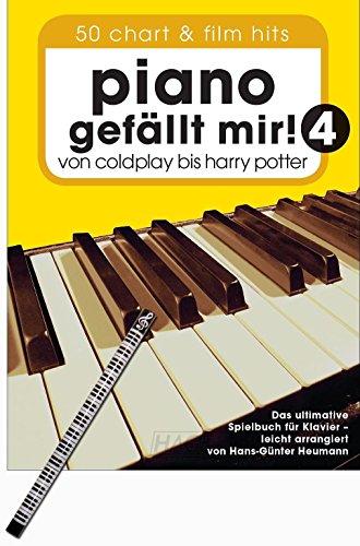 Piano gefällt mir! 4 –Von Coldplay bis Harry Potter - DAS HITALBUM FÜR KLAVIER/KEYBOARD, GESANG UND GITARRE mit Klavierbleistift