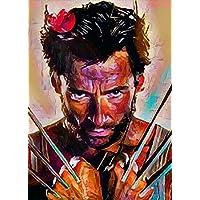 """Aluminium metal wall art """"Wolverine"""""""