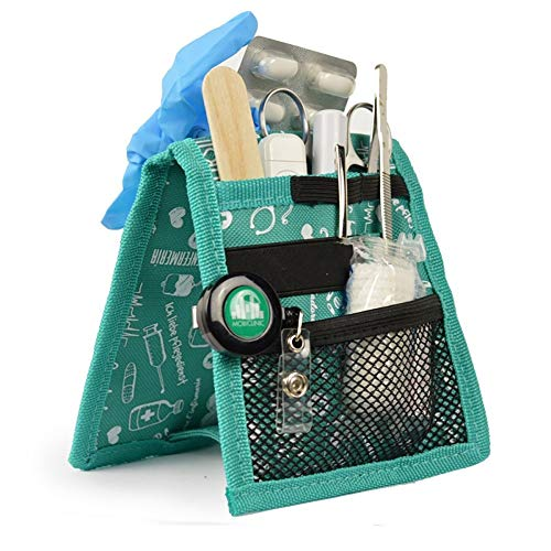 Organizador auxiliar de enfermería | Keen\'s de Elite Bags | Para bata o pijama | Diseño exclusivo con estampados en color verde