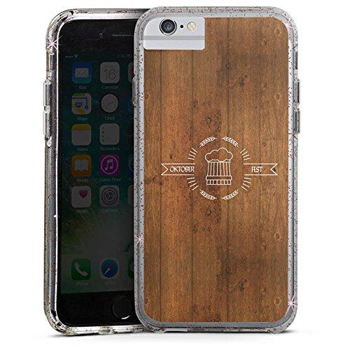 Apple iPhone 7 Plus Bumper Hülle Bumper Case Glitzer Hülle Bier Oktoberfest Statement Bumper Case Glitzer rose gold