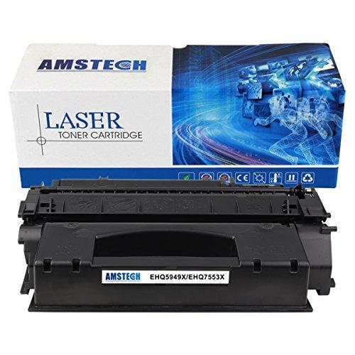 Preisvergleich Produktbild Amstech kompatibel toner 49X Q5949X Q7553X Schwarz Tonerkartusche replacement fuer HP LaserJet 1320 1320N 1320TN 1320NW 3390 3392, LaserJet P2015 P2015D P2015N P2015DN P2015X, LaserJet M2727nf M2727nfs MFP, Standard Yield(7000 Seiten)