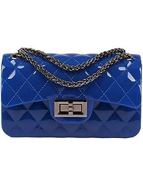 ee26074c5a40d BYD Damen Mini PU Leder Gesteppt Handtasche Schultertaschen Ketten Tasche  mit Steppmuster und Kettenhenkel Maedchen