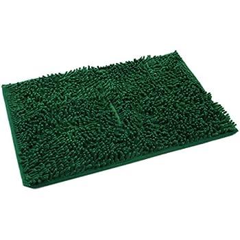 Good Sourcingmap® Absorbent Soft Shaggy Non Slip Bath Mat Bathroom Shower Home  Floor Rugs Carpet(Dark Green 40x60cm)