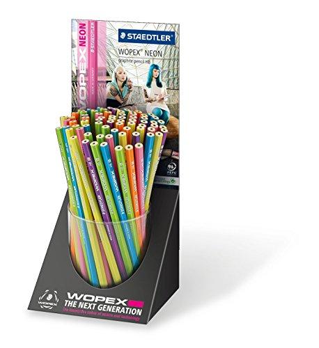 Staedtler - STAEDTLER Crayon Wopex neon, degre de durete, HB, presentoir