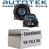 VW Polo 6N - Lautsprecher Boxen Autotek ATX-42 | 2-Wege 10cm Koax Lautsprecher 100mm Auto Einbauzubehör - Einbauset