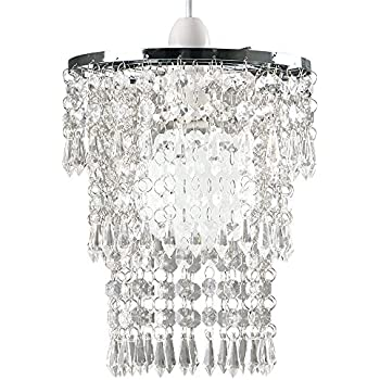 Beautiful modern chrome chandelier pendant shade with stunning clear beautiful modern chrome chandelier pendant shade with stunning clear acrylic jewel droplets aloadofball Choice Image