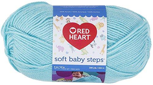 Coats Garn, Rot Herz weiche Baby-Schritte Garn, mehrfarbig, 19.86X 8,89x 8,89cm