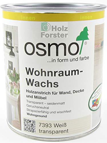 OSMO Wohnraum-Wachs 7393 weiß transparent, 0,75 Liter