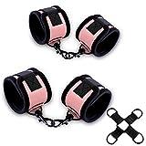 Bondage Set-Handschellen und Fußfesseln,Erotik Sex-Spielzeug Rosa