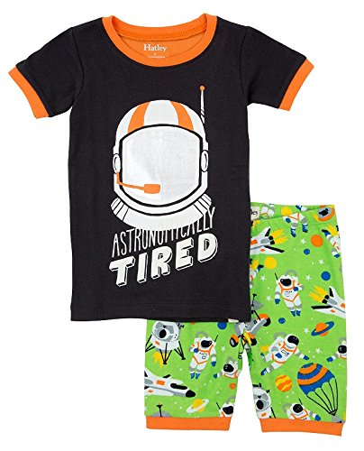 Hatley Astronauts Boys Short Pyjamas Set (Astronomically Tired)