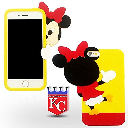 KC 3D look Cute Girl Series Case Soft Silicon back cover for iPhone 5, iPhone 5s & iPhone SE - Pink Colour