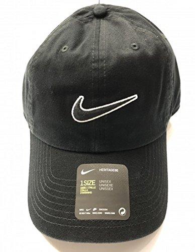 Nike u nk h86 cap essential swsh, cappellino da baseball unisex-adulto, nero (black/black 010), taglia unica