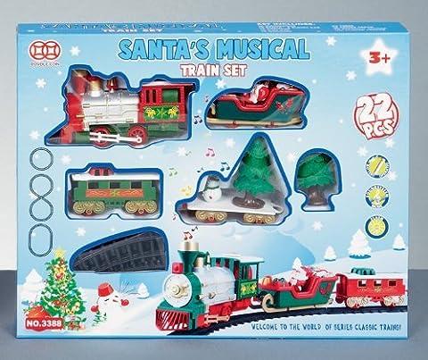 Ensemble Train Musical De Noël 22 Pièces Père Noël