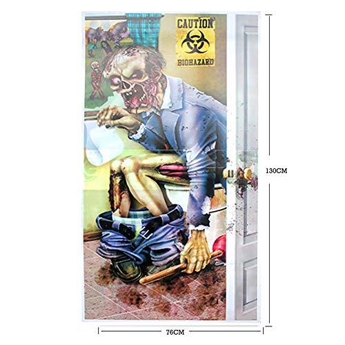 Wudi Halloween-Party-Skeleton WC-Tür-Geisterhaus Dekoration-Zusatz-Fenster-Tür-Abdeckung 1cp 30