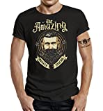 Das T-Shirt für den Bartträger: The Amazing Beard-XL