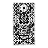 HUIYIYANG Home Bathroom Decorative Shower Bath Curtains,Abstract Black and White Style Floral Ornaments Theme,100% Polyester Fabric Shower Curtain 36