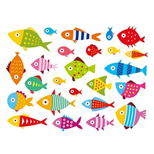 Luoem home room decor stickers murali adesivi per pesci abbellimenti per bambini progetti artigianali creazione di carte rottami prenotazione decorazione 60x90cm