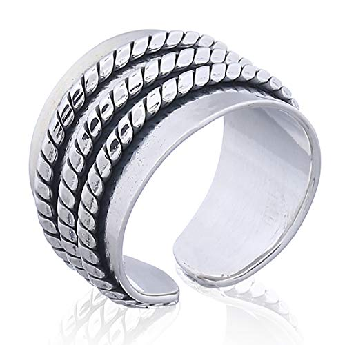 MOON, PLATA Damen-Ring Tanot oxidiert Sterling-Silber 925 - Oxidiert Sterling Silber Ring