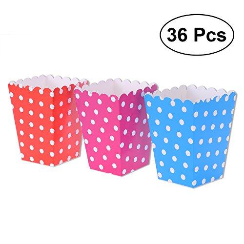 ten,Popcorn-Boxen,Süßigkeitenbehälter Papierschachteln für Film-Party-Bevorzugungen,36pcs(Farbe 2) ()