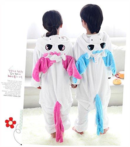 DEBAIJIA Pigiama Animali BambiniUnisex Party Halloween Cosplay Sleepwear per Ragazzo Ragazza Rosa Unicorn