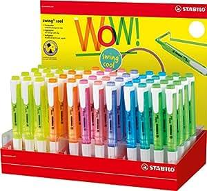 STABILO 275/48–1Swing Cool evidenziatore, colori assortiti (confezione da 8)