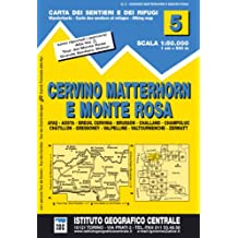 IGC Italien 1 : 50 000 Wanderkarte 5 Vervino Matterhorn e Monte Rosa