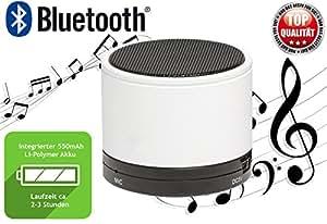 Denver BTS-21Blanc Bluetooth Mini Sound Station haut-parleur pour tous types de smartphones/Tablette S, etc.