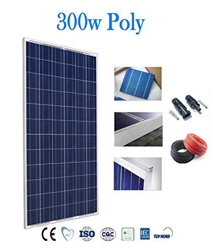 Preisvergleich Produktbild Solarmodul 300 W Solarpanel Photovoltaik Polycrystalline with Cables and connectors